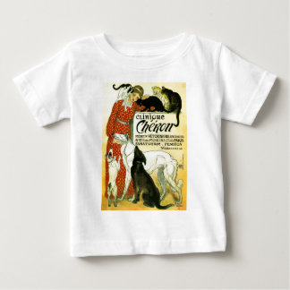 Vintage French veterinary Cat dog Clinique Chéron Baby T-Shirt