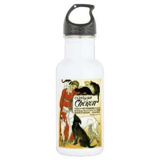 Vintage French veterinary Cat dog Clinique Chéron 532 Ml Water Bottle