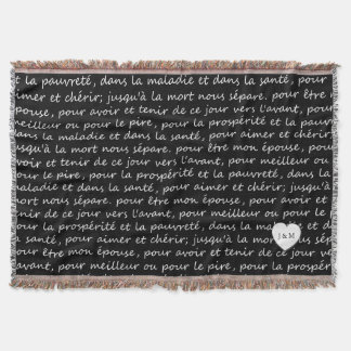 Vintage French Wedding Vows Black and White