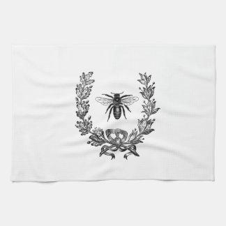 Vintage French Wreath W/ Bee Tea Towel