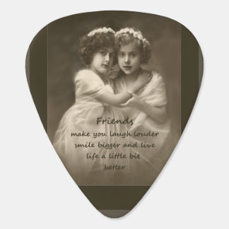 Vintage Friends Inspirational Friendship Quote Plectrum
