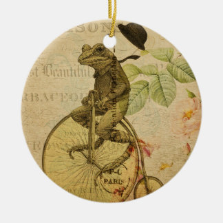 Vintage Frog No. 4 Ceramic Ornament