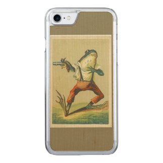 Vintage Frog Show Down Cell Phone Carved iPhone 7 Case