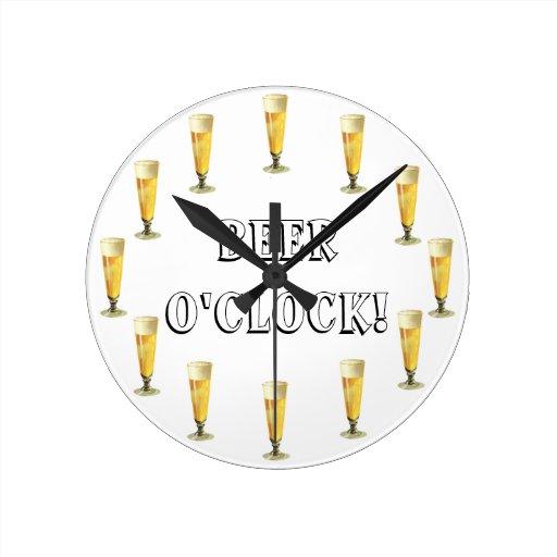 Vintage Frosty Beer O'clock! Alcohol Beverage