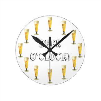 Vintage Frosty Beer O'clock! Alcohol Beverage Wallclock