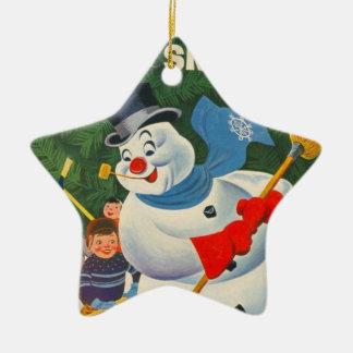 Vintage Frosty Ceramic Ornament