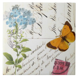 Vintage Fruit and Floral Postcard...tile