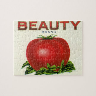 Vintage Fruit Crate Label, Arcadia Beauty Tomatoes Jigsaw Puzzle