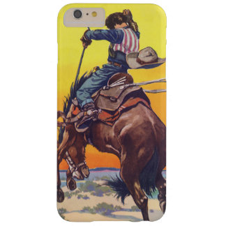 Vintage Fruit Crate Label Art, Bucking Cowboy Barely There iPhone 6 Plus Case