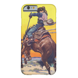 Vintage Fruit Crate Label Art, Bucking Cowboy Barely There iPhone 6 Case