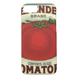Vintage Fruit Crate Label Art, Defender Tomatoes iPhone 7 Case