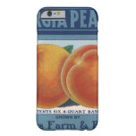Vintage Fruit Crate Label Art, Georgia Peaches Barely There iPhone 6 Case
