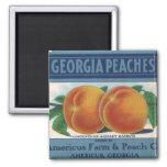 Vintage Fruit Crate Label Art, Georgia Peaches Magnets