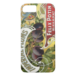 Vintage Fruit Crate Label Art, Imperial Plums iPhone 7 Case
