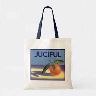 Vintage Fruit Crate Label Art, Juciful Oranges Budget Tote Bag