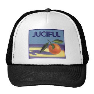 Vintage Fruit Crate Label Art, Juciful Oranges Mesh Hat
