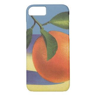 Vintage Fruit Crate Label Art, Juciful Oranges iPhone 7 Case