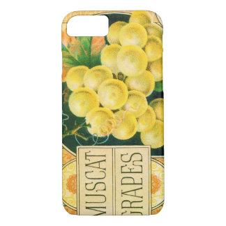 Vintage Fruit Crate Label Art, Muscat Grapes iPhone 7 Case