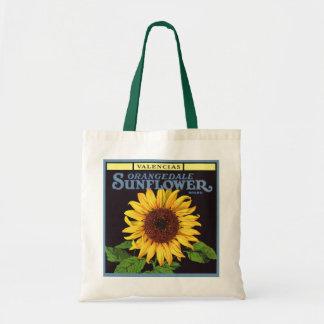 Vintage Fruit Crate Label Art Orangedale Sunflower Bags