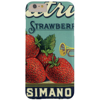 Vintage Fruit Crate Label Art Patriot Strawberries Barely There iPhone 6 Plus Case