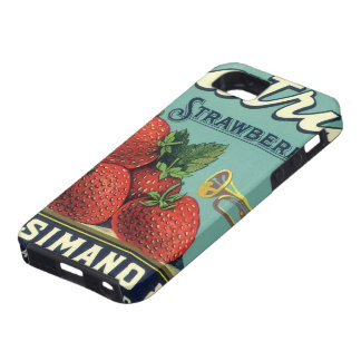 Vintage Fruit Crate Label Art Patriot Strawberries iPhone 5 Cover