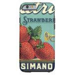 Vintage Fruit Crate Label Art Patriot Strawberries Tough iPhone 6 Case