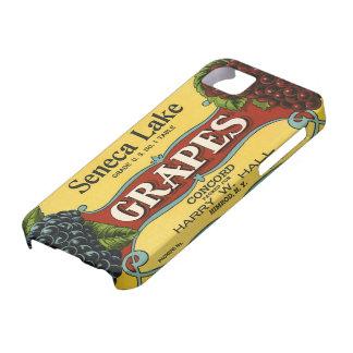 Vintage Fruit Crate Label Art, Seneca Lake Grapes iPhone 5 Cases