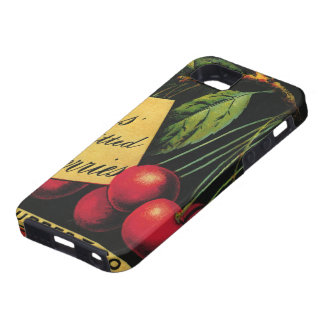 Vintage Fruit Crate Label Art, Thurber Cherries iPhone 5 Case