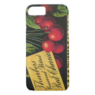 Vintage Fruit Crate Label Art, Thurber Cherries iPhone 7 Case