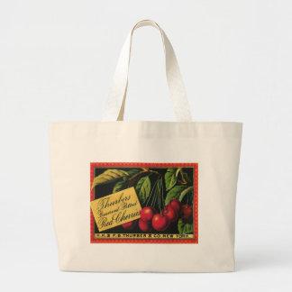Vintage Fruit Crate Label Art, Thurber Cherries Bag