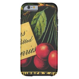 Vintage Fruit Crate Label Art, Thurber Cherries Tough iPhone 6 Case