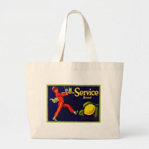 Vintage Fruit Crate Label Bags