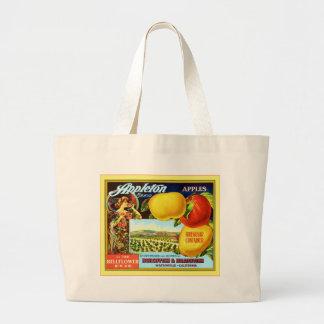Vintage Fruit Crate Label Bag