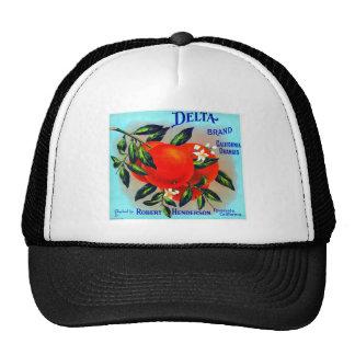 Vintage Fruit Crate Label Mesh Hats