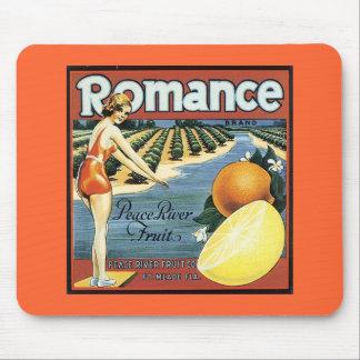 Vintage Fruit Crate Label Mouse Pads