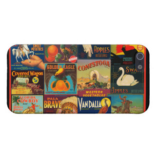 Vintage Fruit Crate Labels iPhone 5 Cases