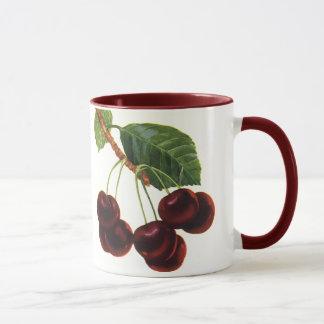 Vintage Fruit Foods, Ripe Cherries from a Tree Mug