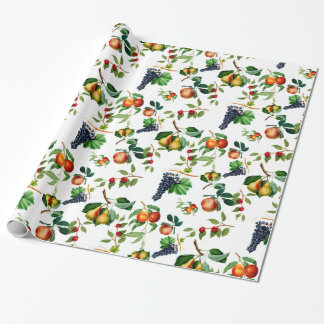 Vintage Fruit Wrapping Paper