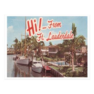 Vintage Ft. Lauderdale Postcard