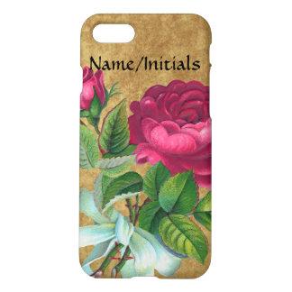 Vintage Fuchsia Rose Pretty Women's Floral iPhone 7 Case