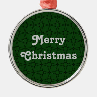 Vintage Funk Premium Ornament, Green Silver-Colored Round Decoration