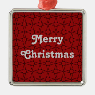 Vintage Funk Premium Square Christmas Ornament, Da Silver-Colored Square Decoration