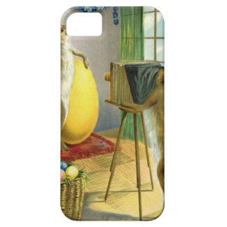 Vintage Funny Easter, Bunny Rabbit Photographer Barely There iPhone 5 Case