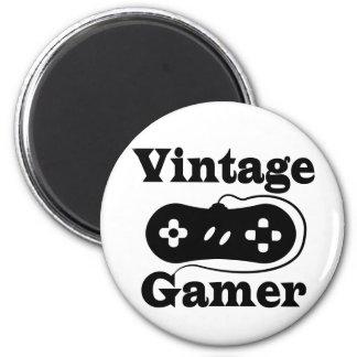 Vintage Gamer 6 Cm Round Magnet