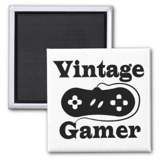 Vintage Gamer Square Magnet