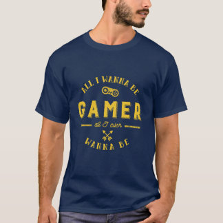 Vintage Gamers Logo T shirt for Video Gaming Pro