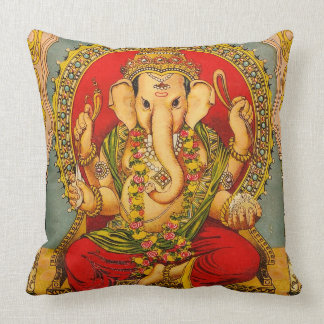 Vintage ganesha decor pillow