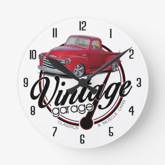 Vintage Garage Step Side Round Clock