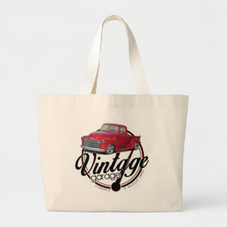 Vintage Garage Truck Large Tote Bag