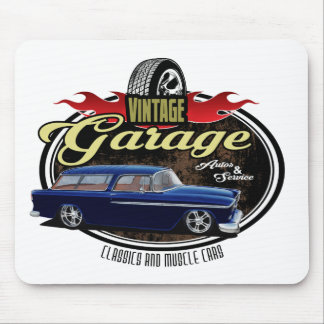 Vintage Garage with Nomad Mouse Pad